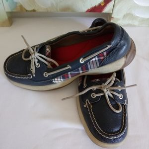 Sperry Leather Canvas Flats